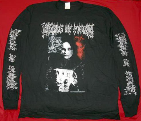 Cradle of Filth Long Sleeve T-Shirt Black is my Heart Size Medium