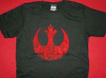 Star Wars T-Shirt Rebel Logo Black Size XL