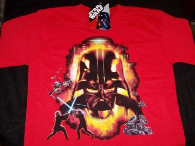 Star Wars T-Shirt Darth Vader Red Size Large