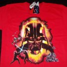 Star Wars T-Shirt Darth Vader Red Size Large