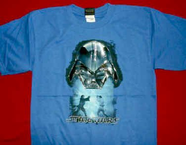 Star Wars T-Shirt Darth Vader Blue Size Large