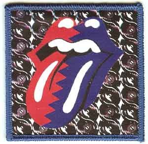 Rolling Stones Iron-On Patch Steel Wheels Tongue Logo