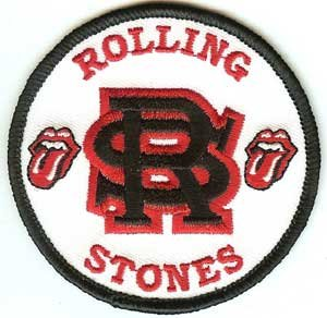 Rolling Stones Iron-On Patch RS Circle Logo