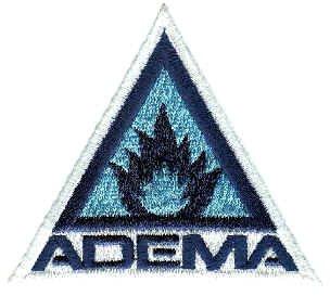 Adema Iron-On Patch Blue Triangle Logo