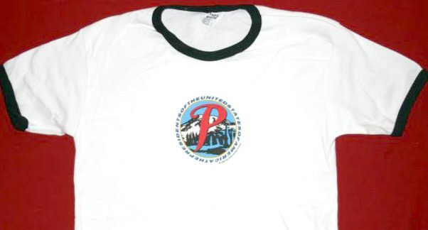 Presidents of the United States Babydoll Ringer T-Shirt White Size Medium
