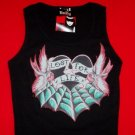 Emily the Strange Babydoll Tank Top Lost for Life Size Small