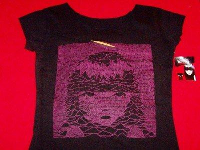 Emily the Strange Babydoll Shirt Purple Face Black Size Small