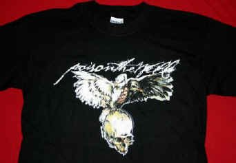 Poison the Well T-Shirt Bird Skull Black Size Small