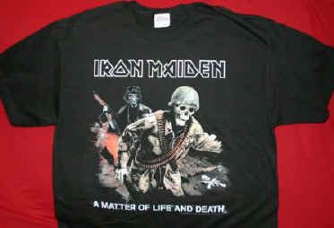 Iron Maiden T-Shirt Soldier Logo Black Size XL