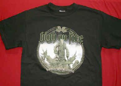 High on Fire T-Shirt Communion Black Size XL