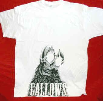 Gallows T-Shirt Skull Letters Logo White Size Small