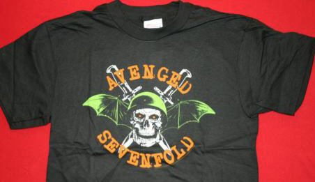 Avenged Sevenfold T-Shirt Death Bat Skull Black Size XL