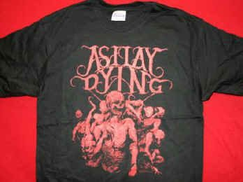 As I Lay Dying T-Shirt Dead Logo Black Size Large