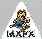 MXPX Vinyl Sticker Cartoon Guy Triangle Logo