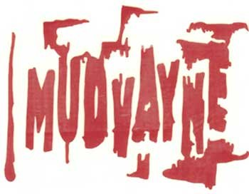 Mudvayne Vinyl Cut Sticker Red Letters Logo