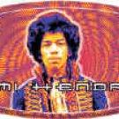 Jimi Hendrix Vinyl Sticker Trippy Logo