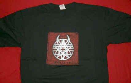 Disturbed T-Shirt Amulet Logo 2003 Tour Black Size XL