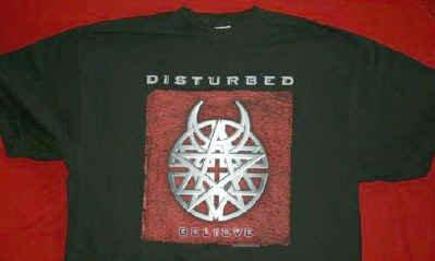Disturbed T-Shirt Believe Logo Black Size XL