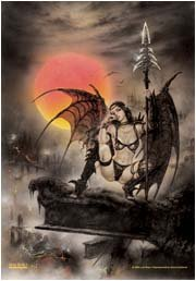 Luis Royo Poster Flag Visions Tapestry