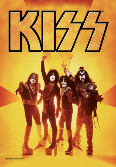 Kiss Poster Flag Gold Group Logo Tapestry