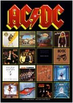 AC/DC Poster Flag Album History Tapestry