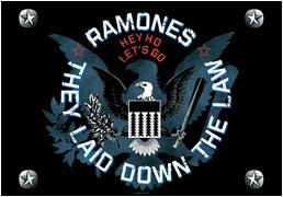 The Ramones Poster Flag Eagle Logo Tapestry