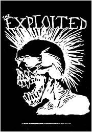 The Exploited Poster Flag Punk Skull Tapestry