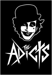 The Adicts Poster Flag Black White Logo Tapestry