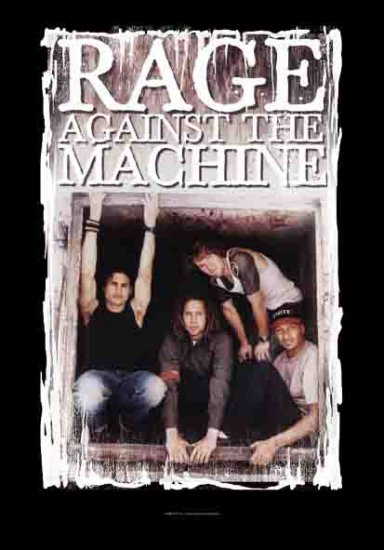 Rage Against The Machine Poster Flag Band Photo Logo Tapestry