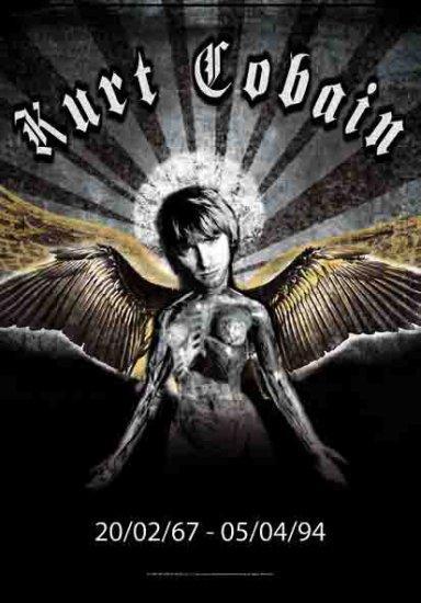 Kurt Cobain Poster Flag Angel Nirvana Tapestry
