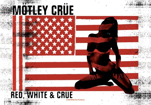 Motley Crue Poster Flag Red White Tapestry