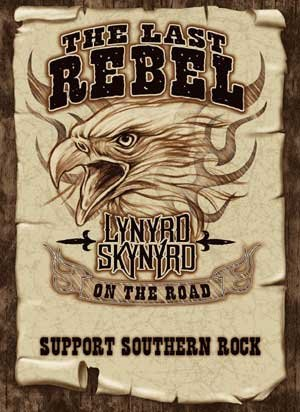 Lynyrd Skynyrd Poster Flag The Last Rebel Tapestry