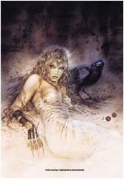 Luis Royo Poster Flag Raven Tapestry