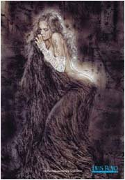 Luis Royo Poster Flag Contemplation Tapestry
