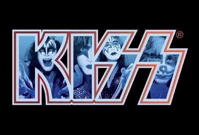 Kiss Poster Flag Monochrome Letters Logo Tapestry