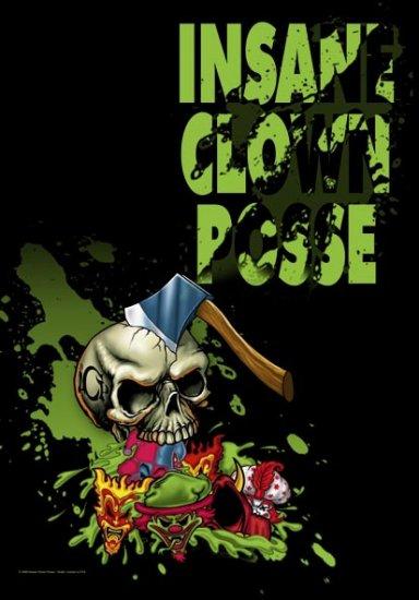 Insane Clown Posse Poster Flag Hatchet Skull Tapestry