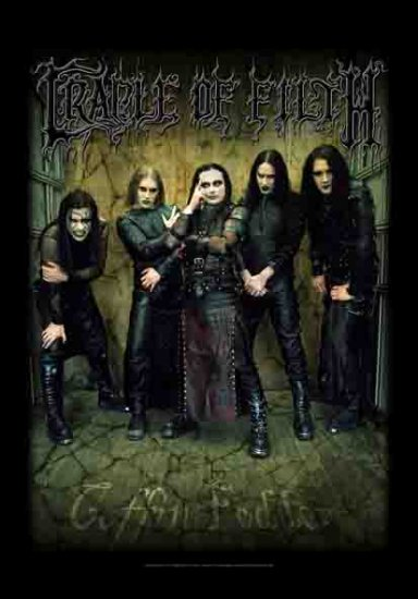 Cradle of Filth Poster Flag Merged Band Photo Tapestry