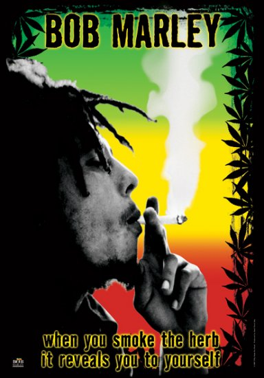 Bob Marley Poster Flag Herb Tapestry