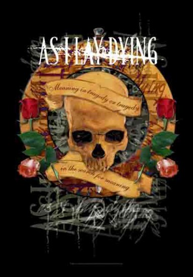 As I Lay Dying Poster Flag Tragedy Tapestry