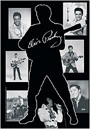 Elvis Presley Poster Flag Photo Collage Tapestry