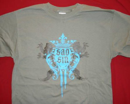 Saosin T-Shirt Crest Logo Tan Size XL