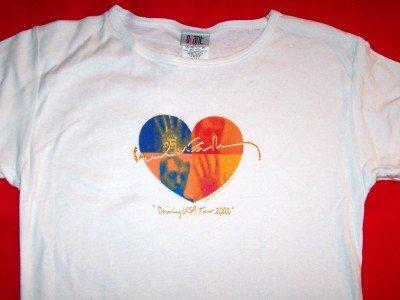 Paul McCartney Babydoll T-Shirt Heart Logo White One Size