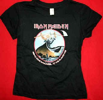 Iron Maiden Babydoll T-Shirt Bring your Daughter Black Size Small