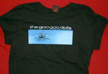 Goo Goo Dolls Babydoll T-Shirt Water Drop Black Size Large