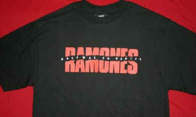 The Ramones T-Shirt Halfway to Sanity Black Size XL