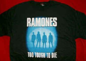The Ramones T-Shirt Too Tough to Die Black Size Medium