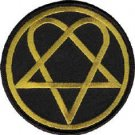 HIM Iron-On Patch Heartagram Circle Logo