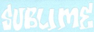 Sublime Vinyl Cut Sticker White Letters Logo