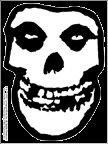 Misfits Vinyl Sticker White Skull Logo Clear Decal
