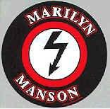 Marilyn Manson Vinyl Sticker Shock Logo